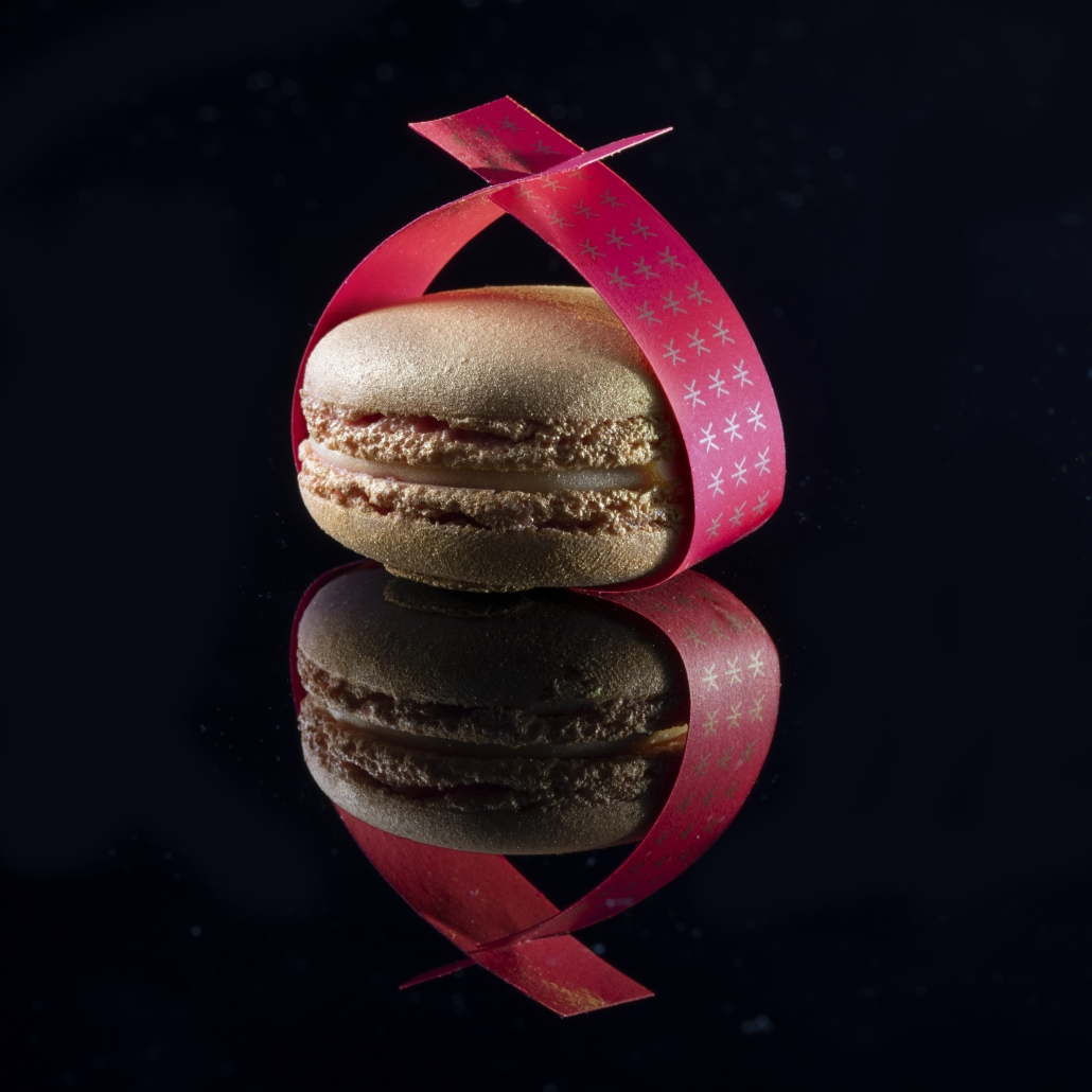 Macaron wrapped in a fortune