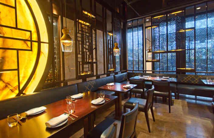 Hakkasan Doha's dining area