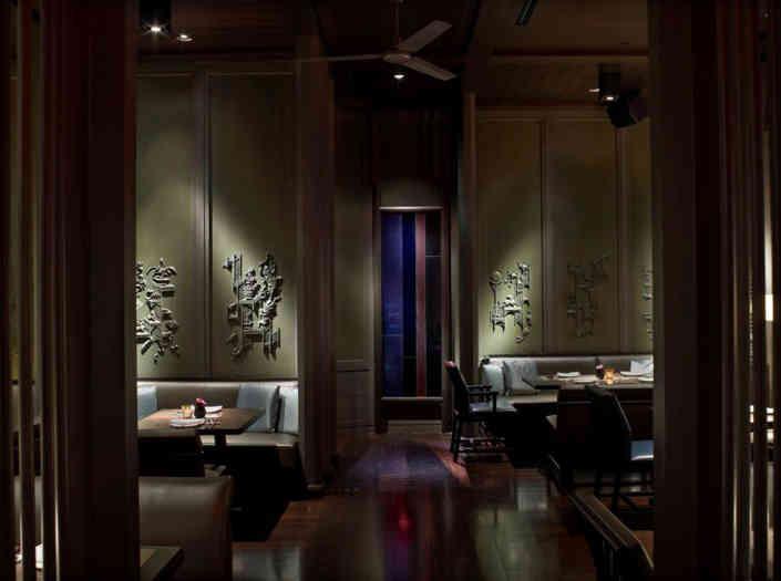 Hakkasan Miami's interiors featuring Cantonese designs and cool lighting