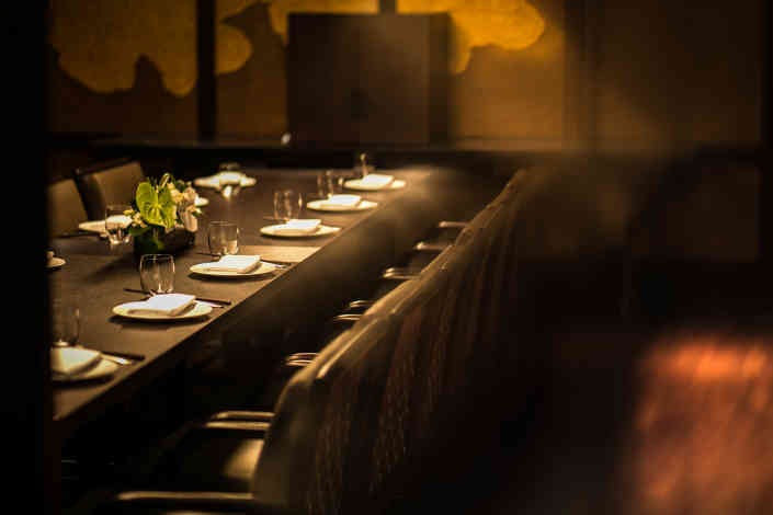 Hakkasan Dubai's private dining room