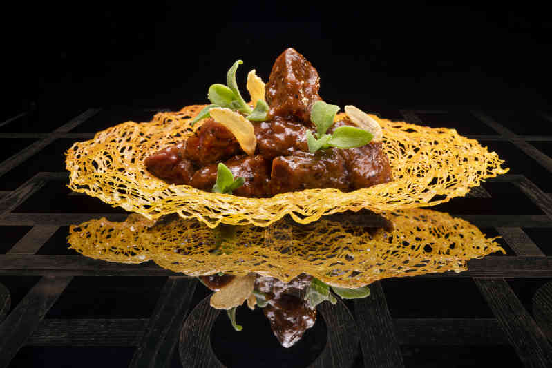 Black pepper beef ribeye with merlot