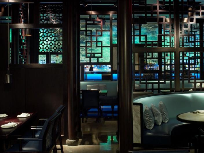 Hakkasan Miami dining room and latticework