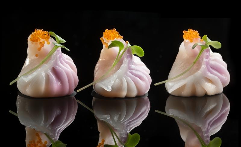 Prawn lily bulb dumplings