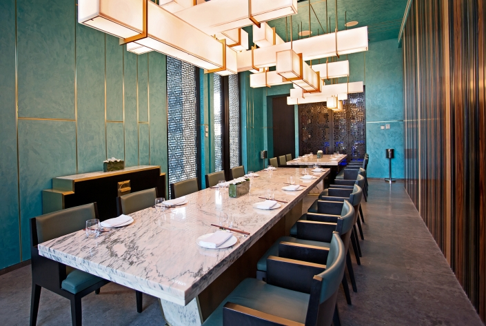 Hakkasan Doha's private dining room