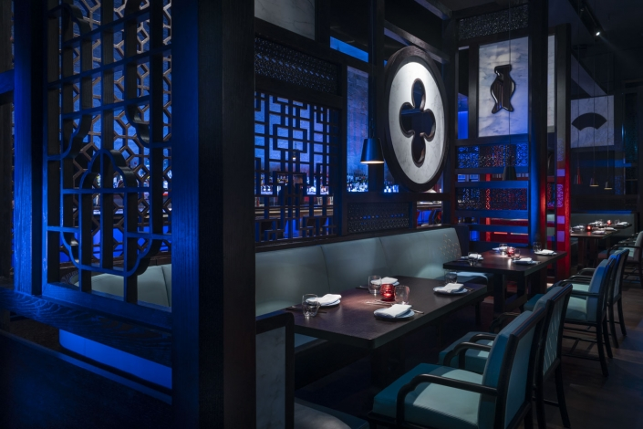Hakkasan Dubai's main dining area
