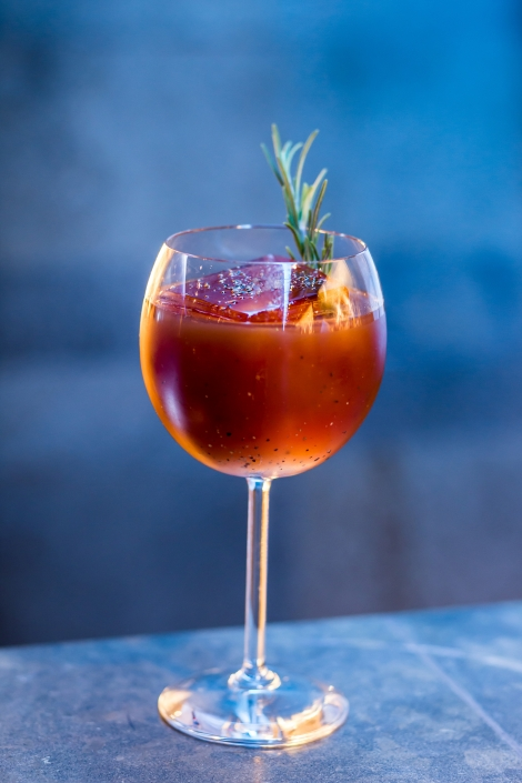 Red-Orange Cocktail