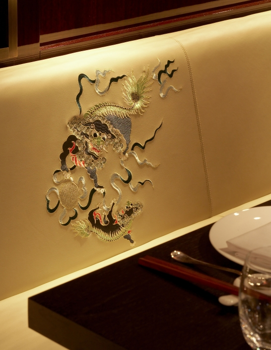 Hakkasan Mayfair booth embroidery