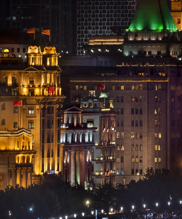The Bund, Shanghai, from rooftop of 22 South Bund