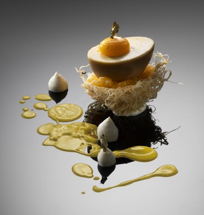 Egg custard nest