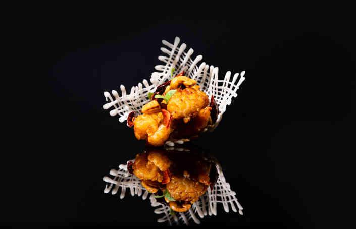 Wok Fry Chilli Cashew Nuts Tiger Prawn